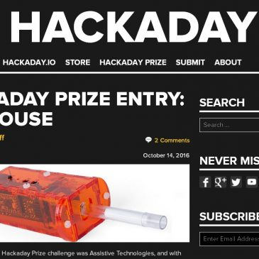 November 2016: FlipMouse among the 10 Hackaday price finalists!